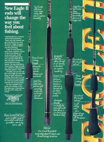 Eagle II Fishing Rods Print Advertisement - Fishing Enthusiast Gift Art - Man Cave Decor