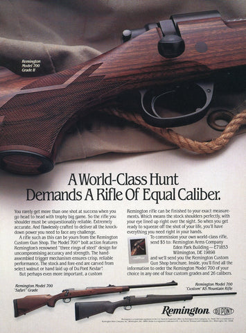 Remington Rifle Print Advertisement - Gun Enthusiast Gift Art - Man Cave Wall Hanging