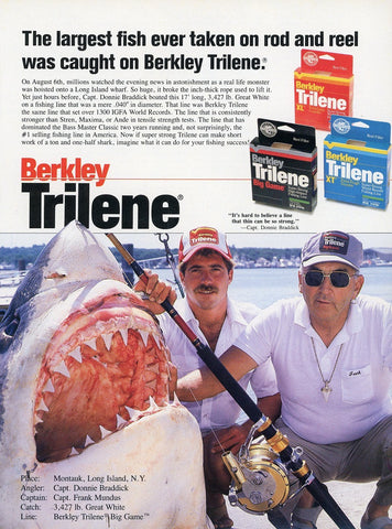 Berkley Trilene Fishing Line Print Advertisement - Fishing Enthusiast Gift Art - Birthday Gift