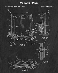 1985 Floor Tom Patent Art Print