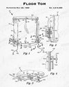 1985 Floor Tom Patent - 8X10 Digital Download Patent