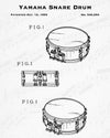 1993 Yamaha Snare Drum Patent - 8X10 Digital Download Patent