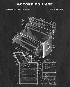1932 Accordion Case Patent Art Print