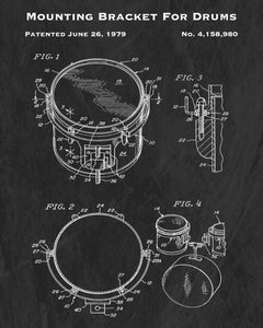 1979 Mounting Bracket For Drums Patent Art Print