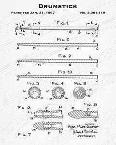 1967 Drumstick Patent - 8X10 Digital Download Patent