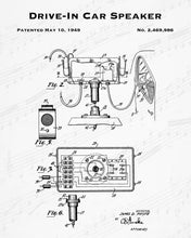 1949 Drive-In Car Speaker Patent - 8X10 Digital Download Patent