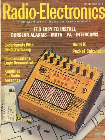Radio Electronics May 1972 Magazine Back Issue - Vintage Electronics Collectable - Intercoms Memorabilia