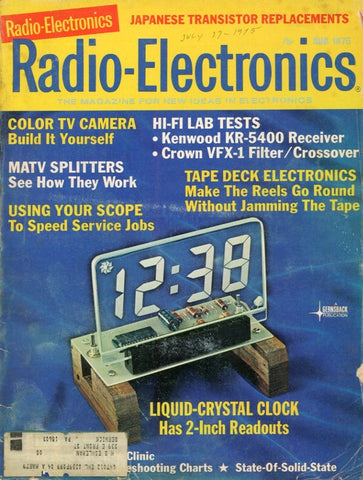 Radio Electronics April 1975 Magazine Back Issue - Vintage Electronics Collectable - Electronic Enthusiast Gift