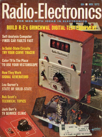 Radio Electronics November 1972 Magazine Back Issue - Vintage Electronics Collectable - Electronic Enthusiast Gift