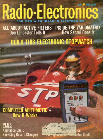 Radio Electronics November 1973 Magazine Back Issue - Vintage Electronics Collectable - Electronic Enthusiast Gift