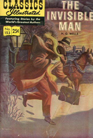 Classics Illustrated No. 153 November 1959 Comic Book - Comic Book Collectable - The Invisible Man Memorabilia