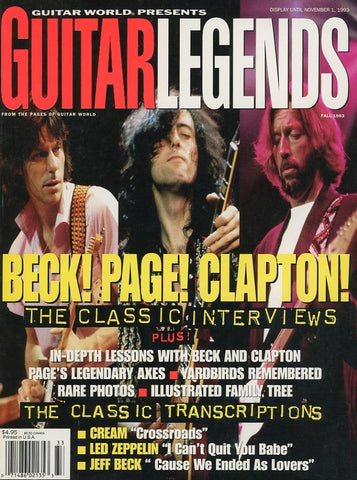 Guitar Legends - Fall 1993 Magazine Back Issue