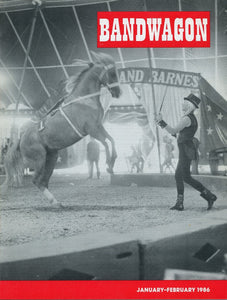 Bandwagon Magazine Back Issue - January/February 1986 - Circus Memorabilia