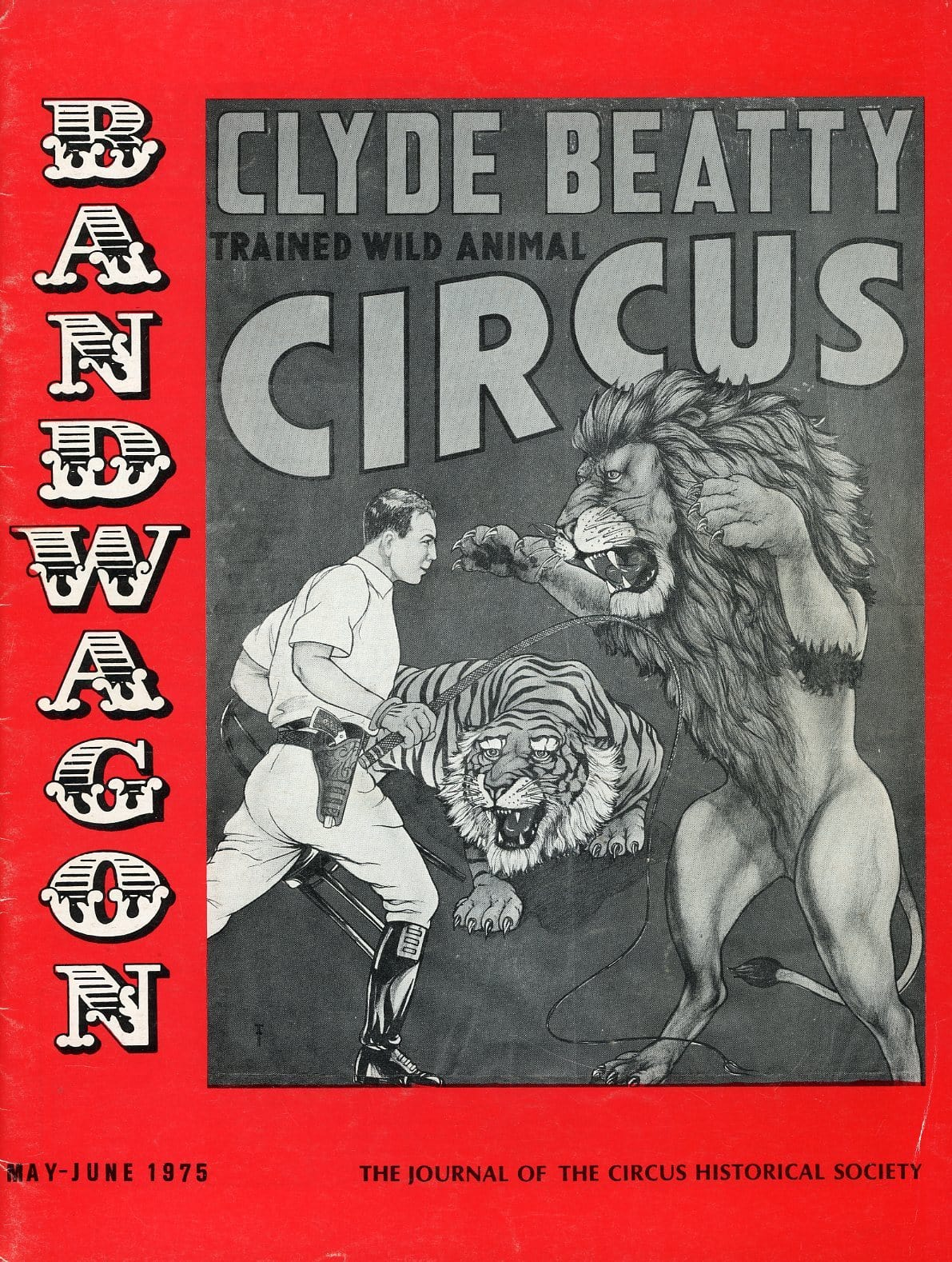 Bandwagon Magazine Back Issue - May/June 1975 - Circus Memorabilia