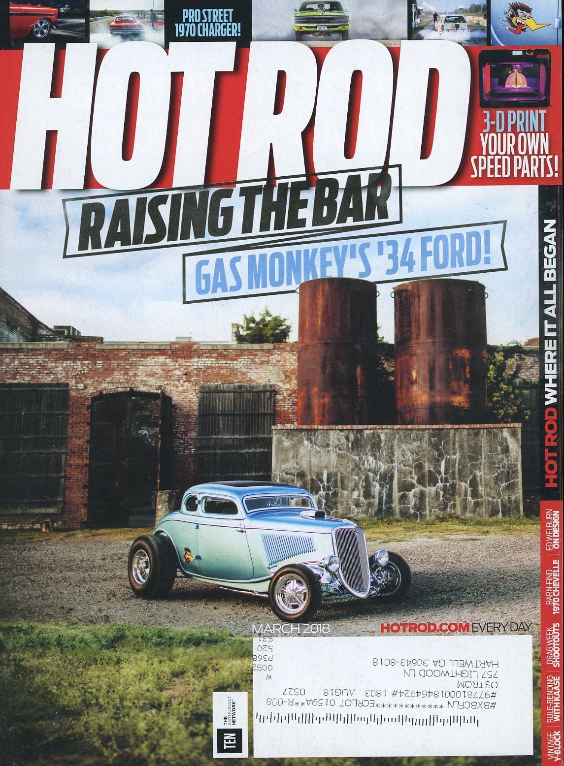 Hot Rod March 2018 Magazine Back Issue - Car Collector Gift