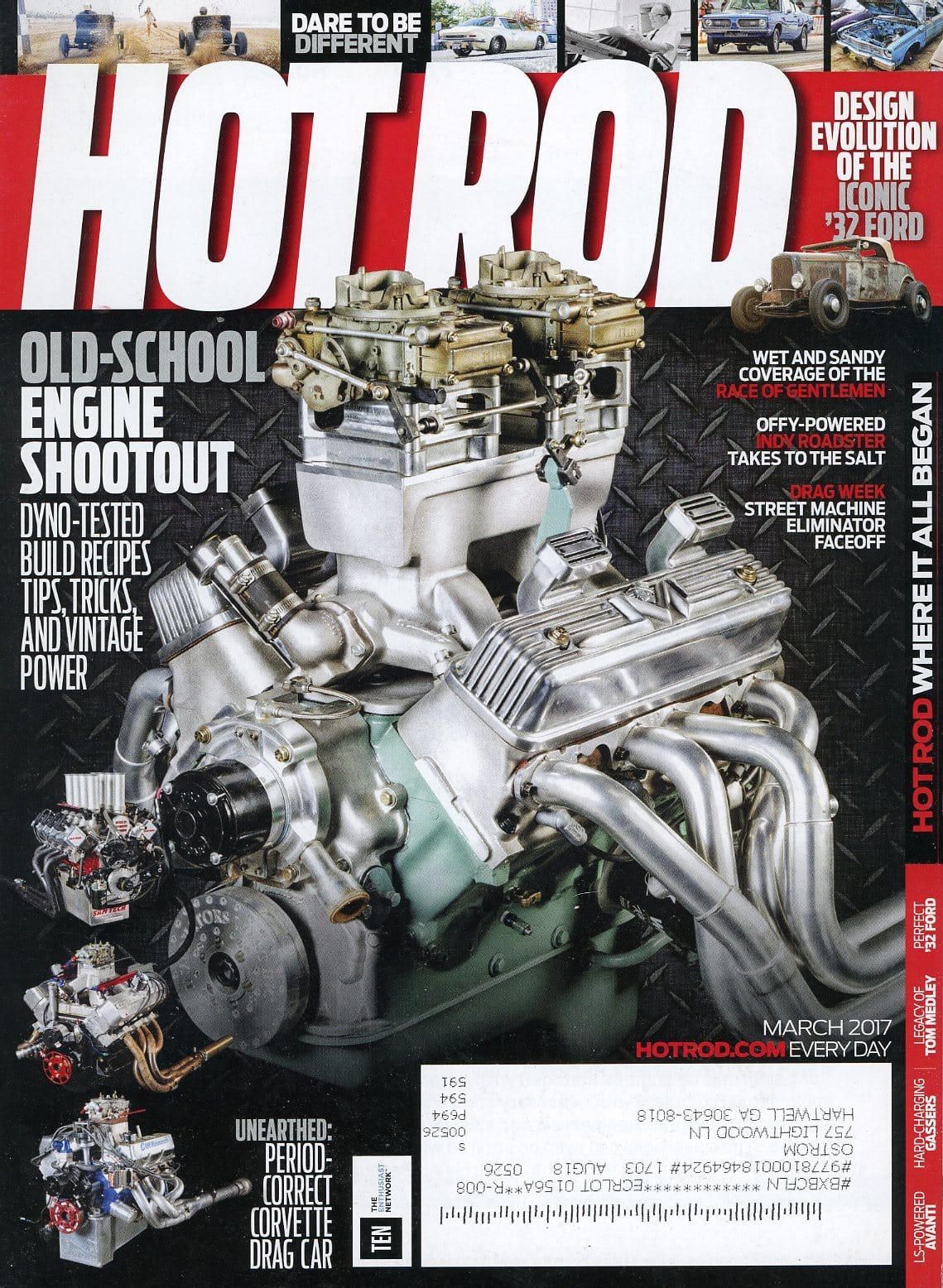 Hot Rod March 2017 Magazine Back Issue - Car Collector Gift