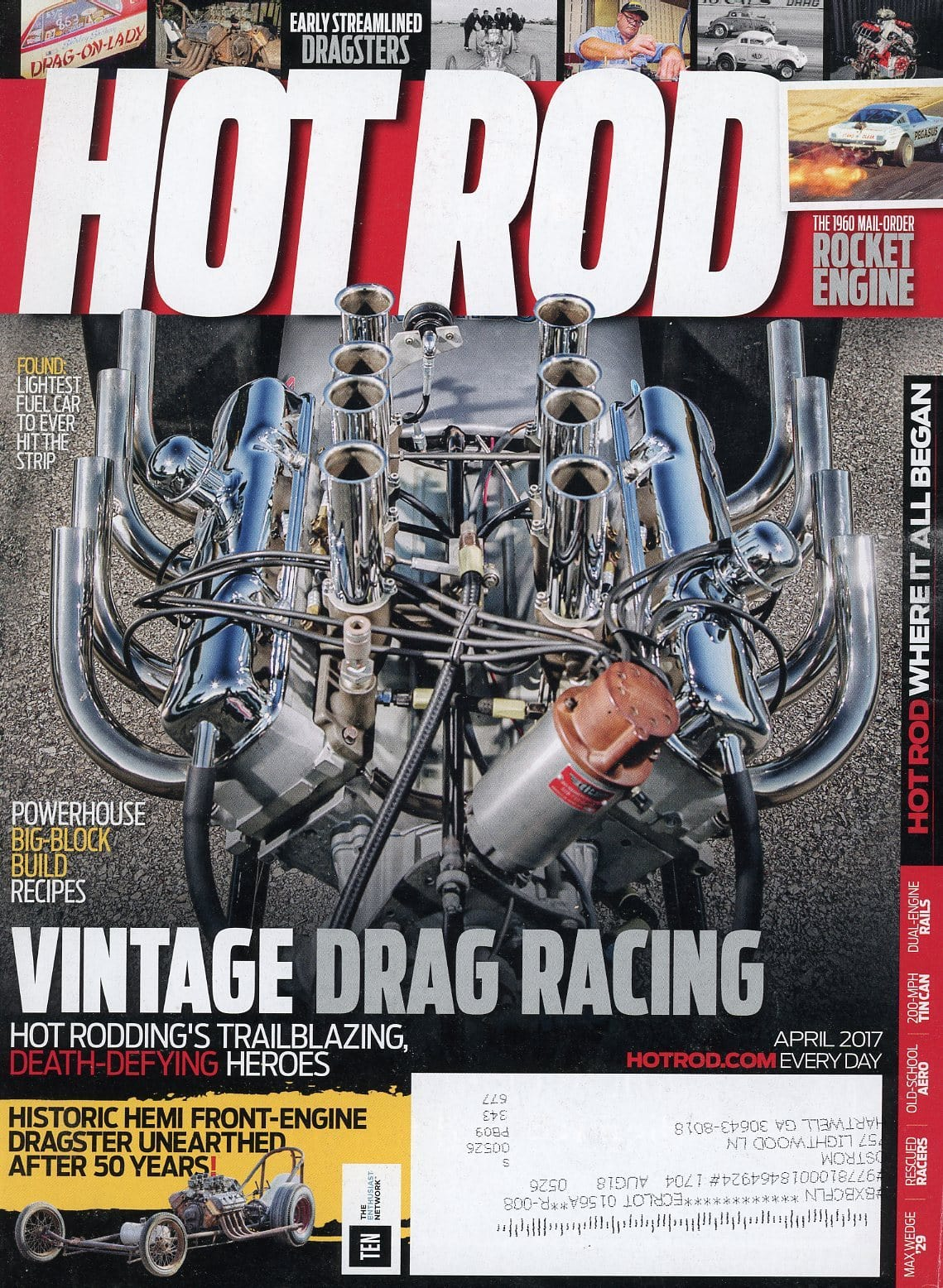 Hot Rod April 2017 Magazine Back Issue - Car Collector Gift