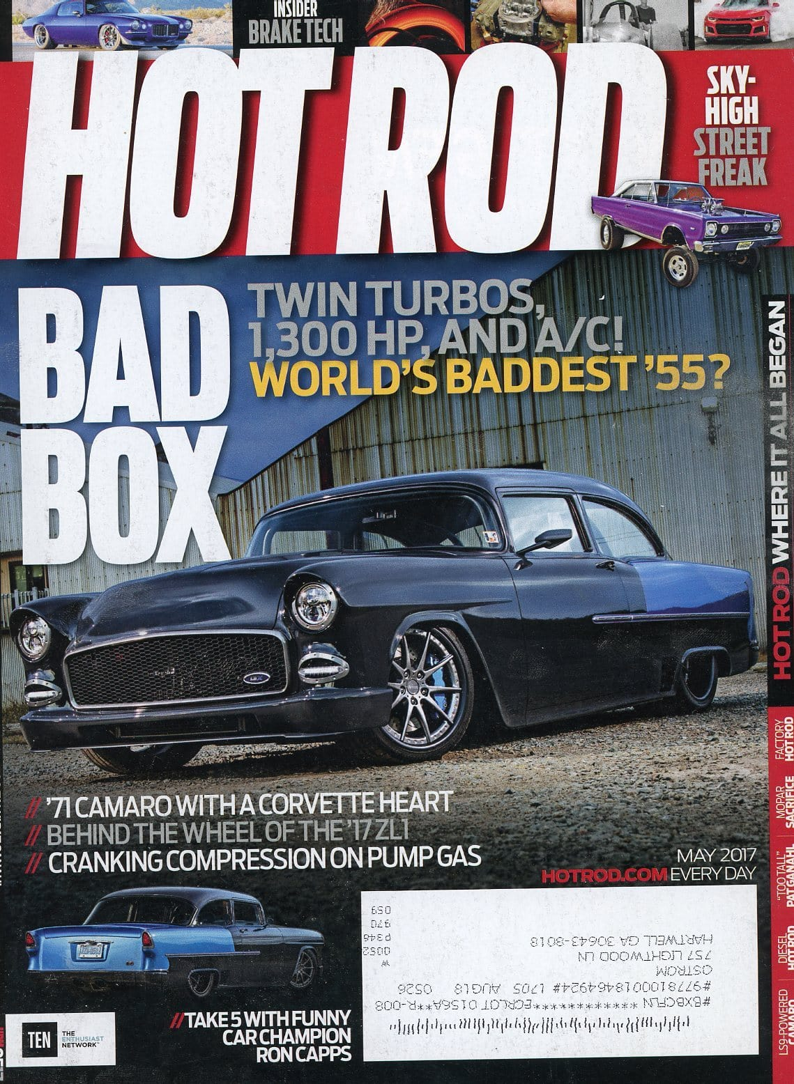 Hot Rod May 2017 Magazine Back Issue - Car Collector Gift