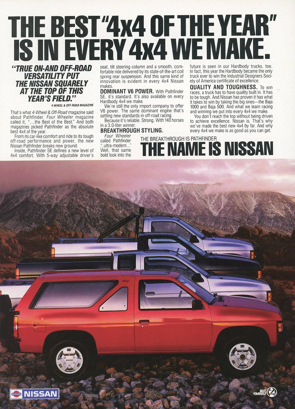 1980's Nissan Trucks Advertisement - Gift For Him - Man Cave Wall Hanging
