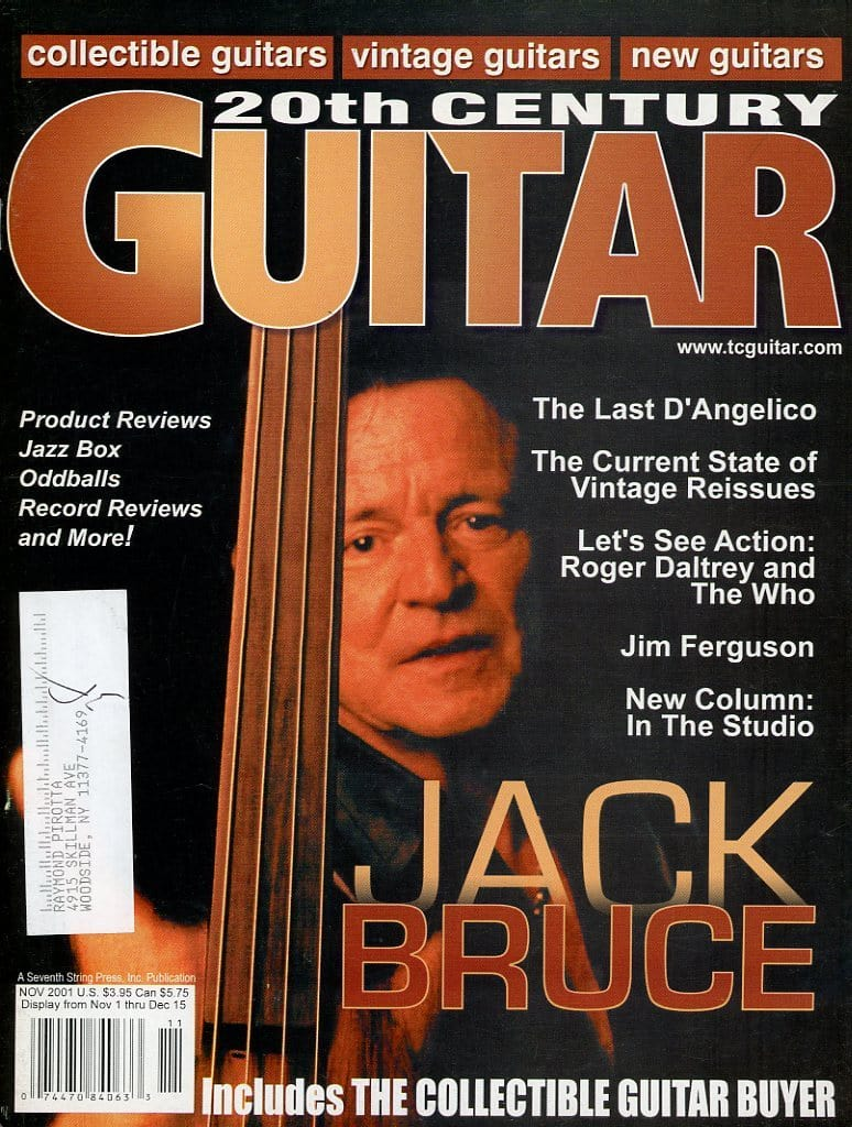 20th Century Guitar - November 2001 (Magazine Back Issue)