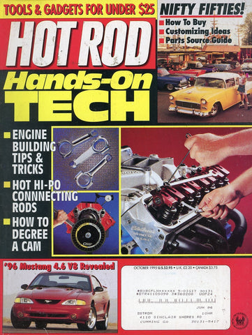 Hot Rod October 1995 Magazine Back Issue - Car Collector Gift