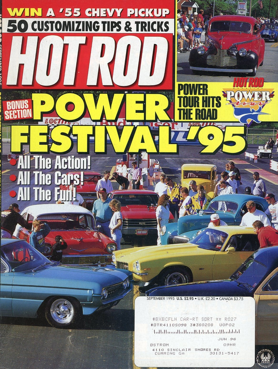 Hot Rod September 1995 Magazine Back Issue - Car Collector Gift