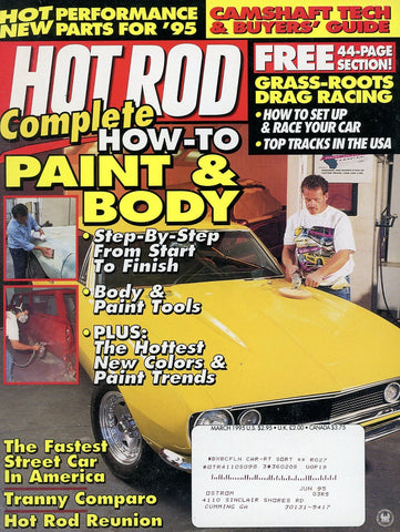 Hot Rod March 1995 Magazine Back Issue - Car Collector Gift