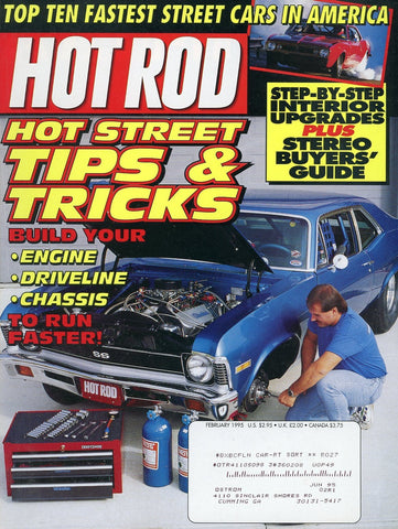 Hot Rod February 1995 Magazine Back Issue - Car Collector Gift