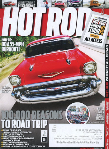 Hot Rod November 2015 Magazine Back Issue - Car Collector Gift