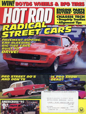 Hot Rod November 1995 Magazine Back Issue - Car Collector Gift