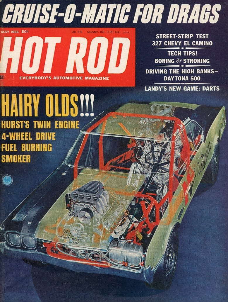 Hot Rod May 1966 Magazine Back Issue - Car Collector Gift