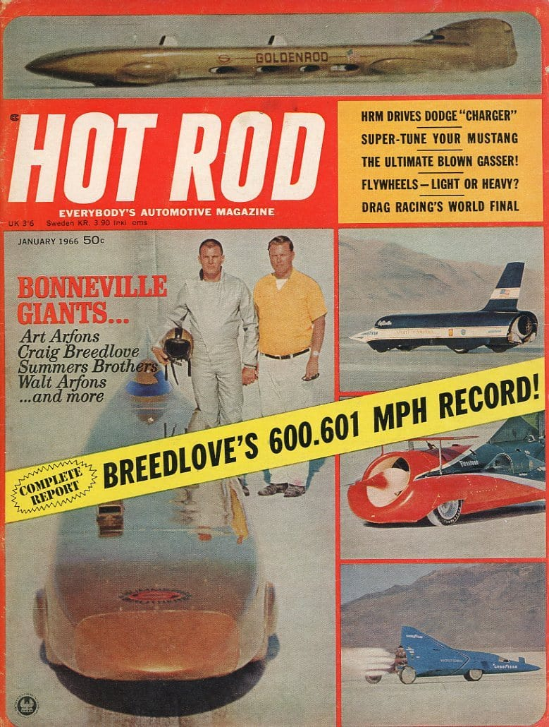 Hot Rod January 1966 Magazine Back Issue - Car Collector Gift