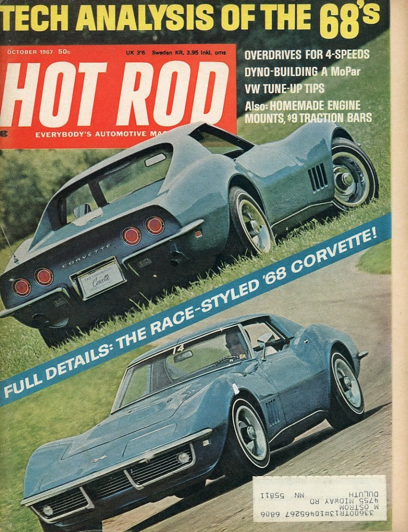 Hot Rod October 1967 Magazine Back Issue - Car Collector Gift