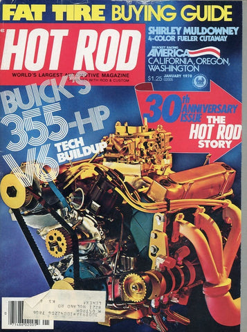 Hot Rod January 1978 Magazine Back Issue - Car Collector Gift