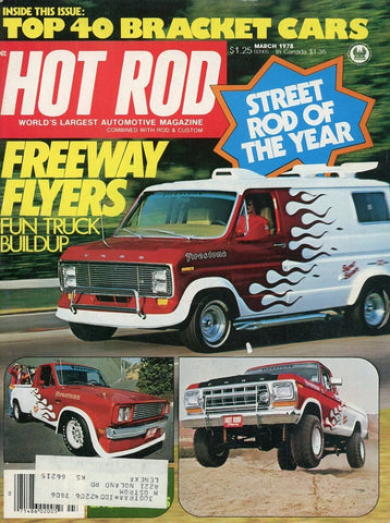 Hot Rod March 1978 Magazine Back Issue - Car Collector Gift