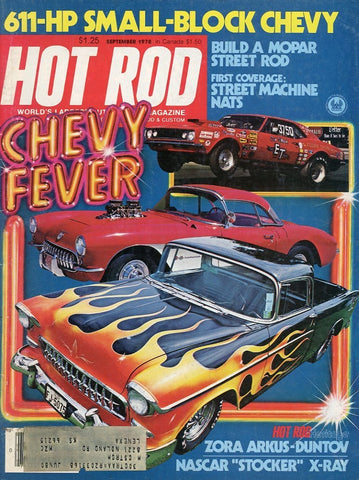 Hot Rod September 1978 Magazine Back Issue - Car Collector Gift