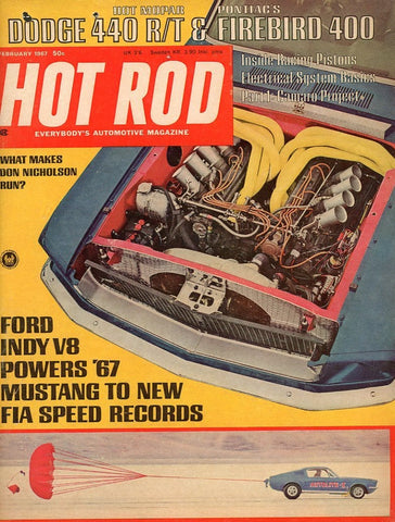 Hot Rod February 1967 Magazine Back Issue - Car Collector Gift