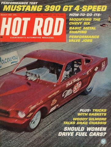 Hot Rod March 1967 Magazine Back Issue - Car Collector Gift