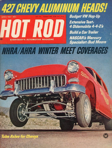 Hot Rod April 1967 Magazine Back Issue - Car Collector Gift