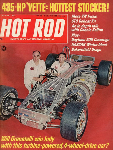 Hot Rod May 1967 Magazine Back Issue - Car Collector Gift