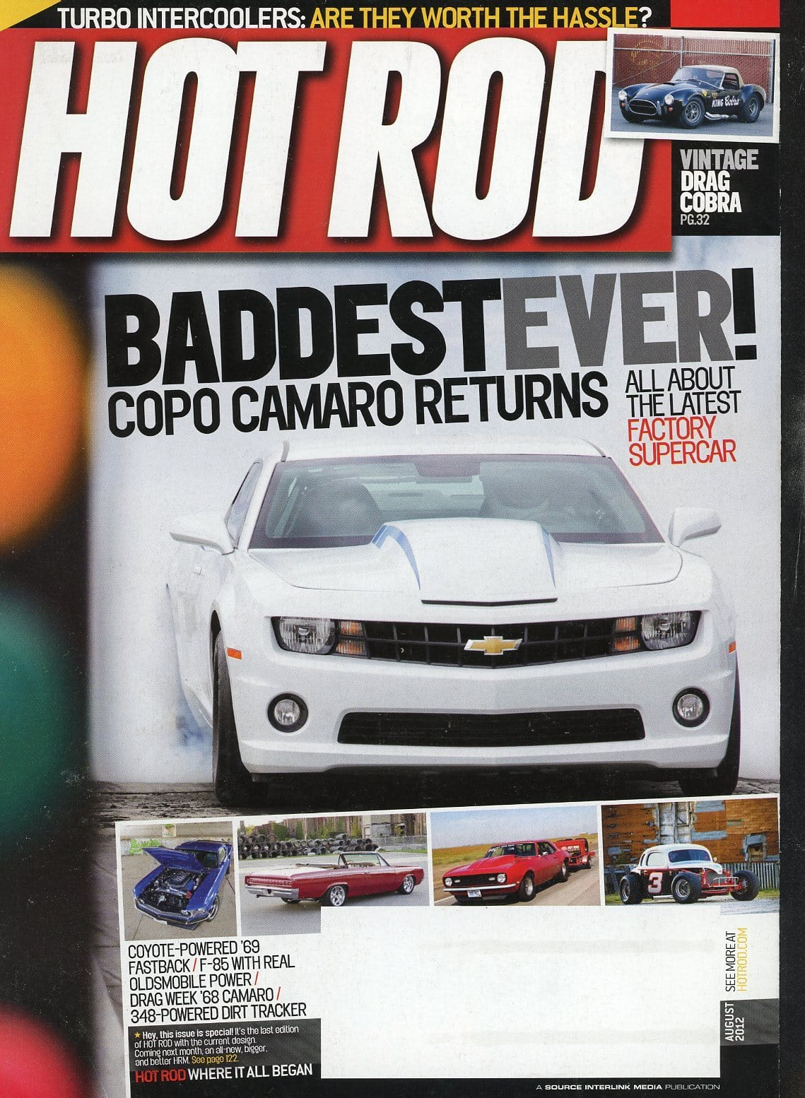 Hot Rod August 2012 Magazine Back Issue - Vintage Car Enthusiast Gift