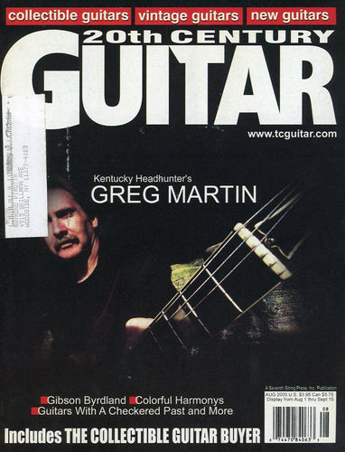 20th Century Guitar - August 2000 (Magazine Back Issue)