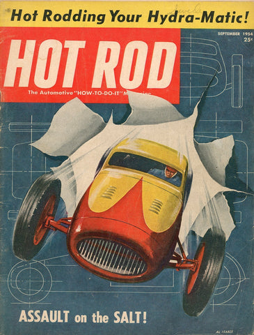 Hot Rod September 1954 Magazine Back Issue - Vintage Car Enthusiast Gift - Vintage Car Racing Collectable