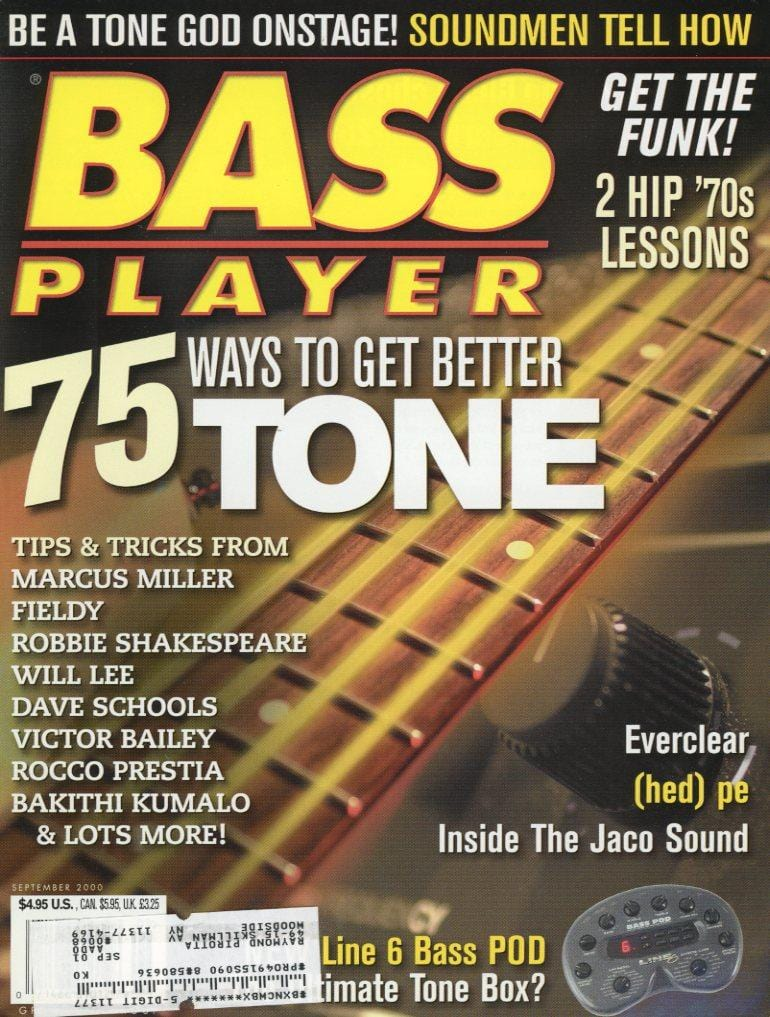 Bass Player Magazine Back Issue - September 2000