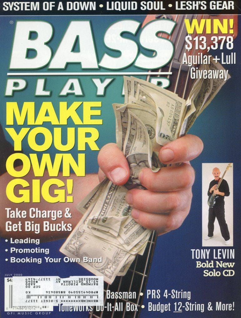 Bass Player Magazine Back Issue - July 2000