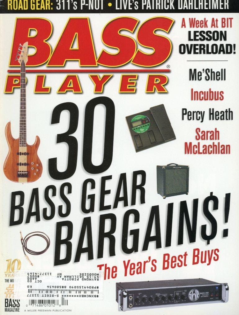 Bass Player Magazine Back Issue - December 1999