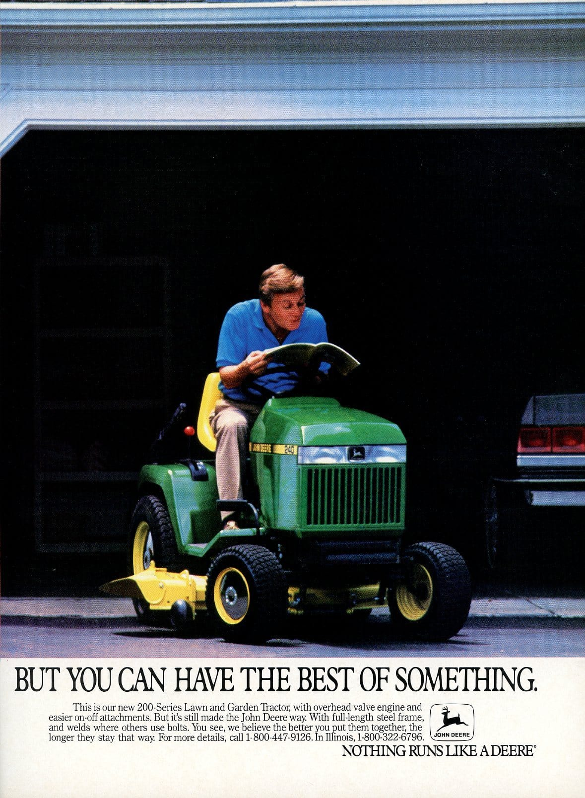 1980's John Deere Tractor Advertisement - Gift For Him - Outdoor Equipment Print Ad