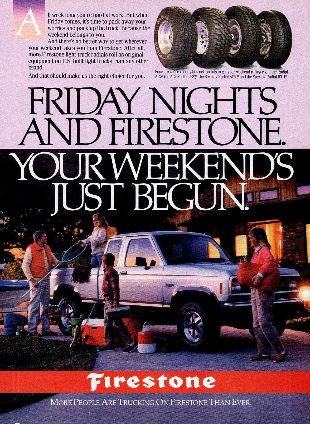 1980's Firestone Tires Advertisement - Transportation Wall Decor - Truck Lover Gift