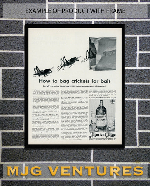 1950's Ancient Age Liquor Advertisement - Bar Room Decor - Man Cave Wall Hanging
