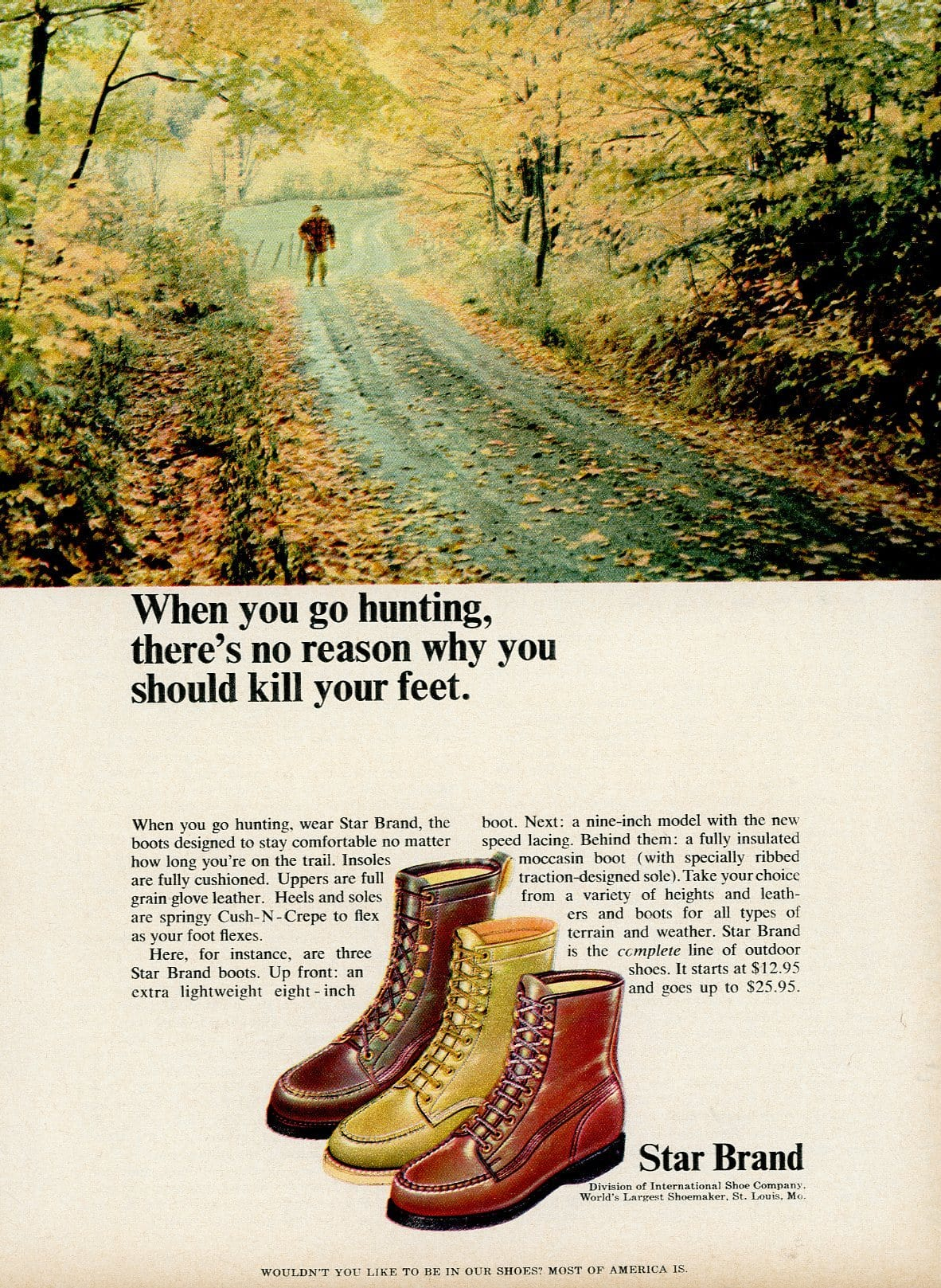 1960's Star Brand Boots Advertisement - Vintage Fashion Print Ad - Mad Men Advertising Era